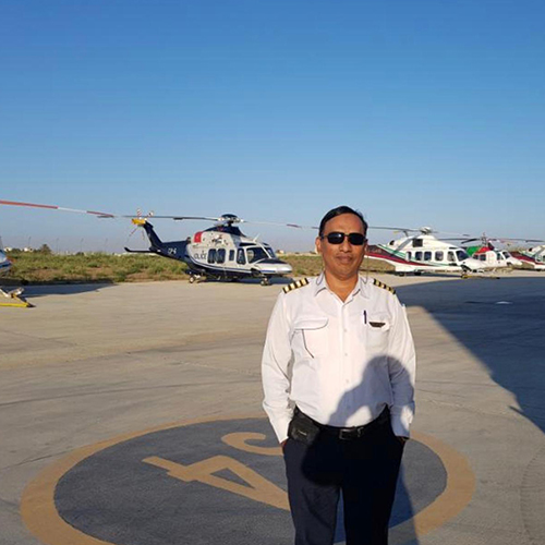 Caption Senaka Dharmawardhana ( Gulf Helicopter)